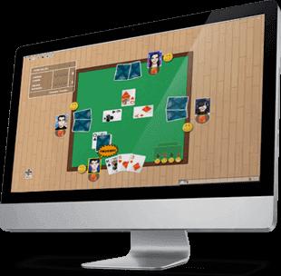 Jogando Truco Online no MegaJogos