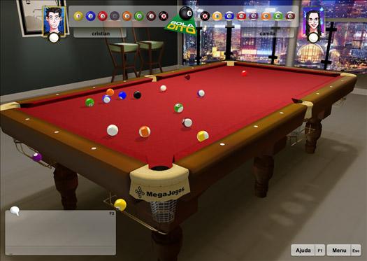 Sinuca-3D Online MegaJogos